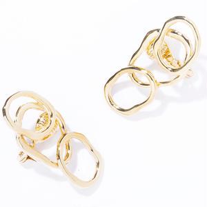vein earring / silver,gold