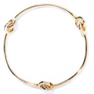 3 handle bangle / silver,gold