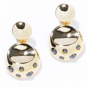 dome earring / silver,gold