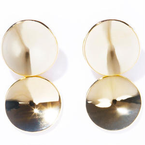 w dimple earring / silver,gold