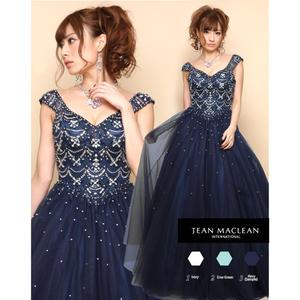 【JEAN MACLEAN】ビジュー付き姫Dress【81218】