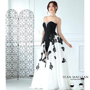【JEAN MACLEAN】ビジュー付モノクロ姫Dress【81302】