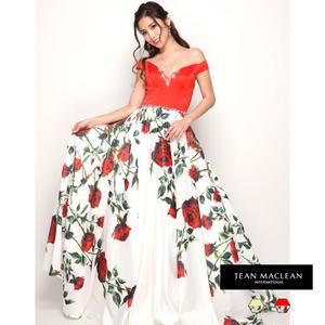 【JEAN MACLEAN】フラワープリント姫Dress【81259】