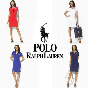 送料無料 人気定番半袖 Polo Ralph Lauren ポロ ラルフローレン 人気 半袖 Tシャツ ワンピース レディース 4COLOR [PL-902-841]