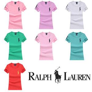 送料無料 人気定番半袖 Polo Ralph Lauren ポロ ラルフローレン 人気 半袖 Tシャツ レディース 7COLOR