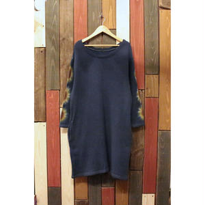 "JAVARA ""FLOWER LINE"" SWEAT ONE PIECE (NAVY)"