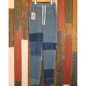 "JAVARA ""PATCHWORK INDIGO DYE SWEAT PANTS""02"