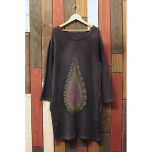 "JAVARA ""TEARDROP"" SWEAT ONE PIECE (CHARCOAL)"