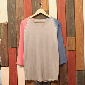 "JAVARA Raglan Sleeve 7tee ""RAGLAN DYE"" (light gray)"