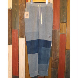 "JAVARA ""PATCHWORK INDIGO DYE SWEAT PANTS""03"