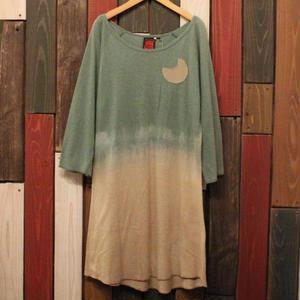 """JAVARA """"小さなツキポケットワンピース"""" (green)"""