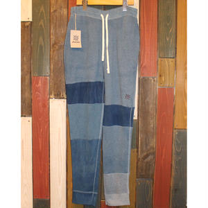 "JAVARA ""PATCHWORK INDIGO DYE SWEAT PANTS""04"