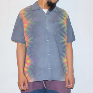 "A HOPE HEMP ""TIE DYE OPEN S/S SHIRTS"""