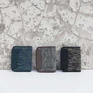 折り畳み財布 コットン&レザー