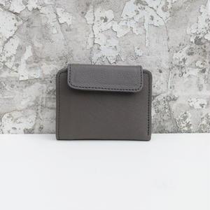 折り畳み財布 レザー トープグレイ