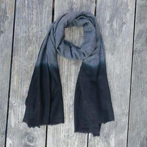 ウールストール/ブラック&グレイ