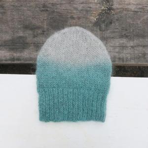 モヘアニット帽/ミント