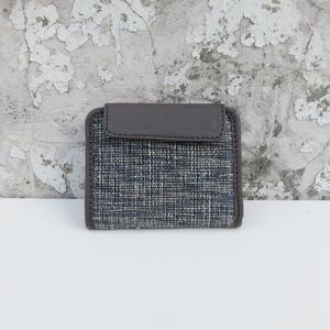 折り畳み財布 コットン&レザー トープグレイ