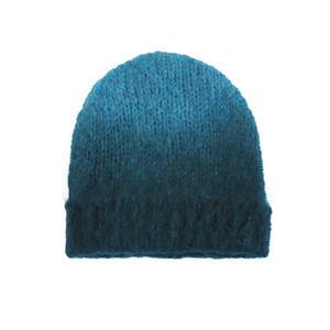 モヘアニット帽/ティール