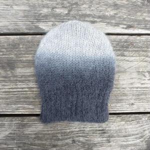 モヘアニット帽/グレイ