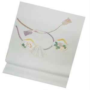 貝合わせの刺繍名古屋帯