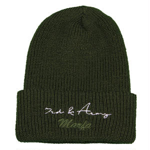3rd & Army Knit Cap Dark Green