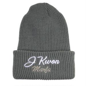 J Kwon Knit Cap Grey