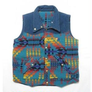 Aviator Nation & Pendleton Native Pattern Reversible Vest L MADE IN USA