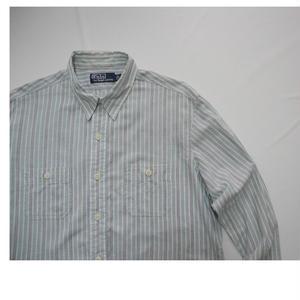 Polo Ralph Lauren   100%cotton  shirt   LARGE  チンスト マチ