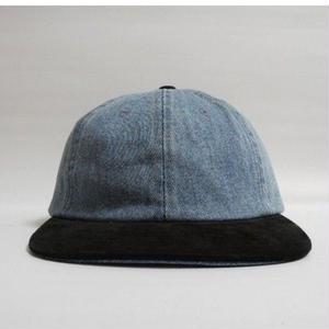 2TONE CAP Denim×Blacksuede deadstock
