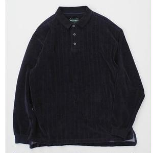 VELOUR LONG SLEEVE POLO SHIRT L