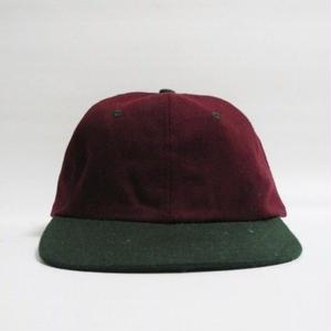 2TONE CAP Burgundy×Green deadstock