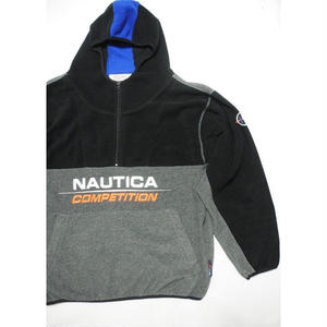 "NAUTICA  ""COMPETITION"" Fleece Hoodie  Black× Gray/L~XL"