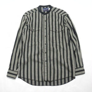 Wrangler  No Collar Stripe Shirt 15 1/2