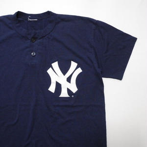 Majestic yankees  Henley neck T-shirt S程