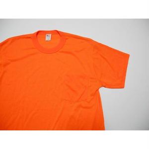 ORANGE POCKET T-shirt MADE IN USA L
