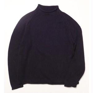 ROLL NECK COTTON KNIT L