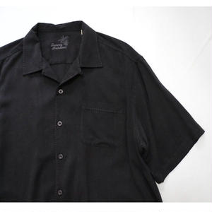 open collared silk shirt L