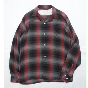 60's AROOW Ombre Check Rayon Shirt L