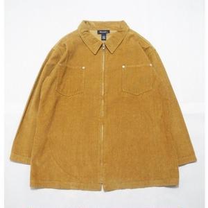 Corduroy Zip Shirt  1X