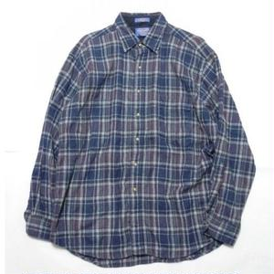 PENDLETON CHECK WOOL SHIRT XL