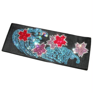 荒波桜の半巾帯