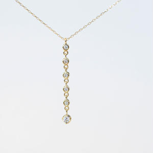 【anq.】K10・6連ダイヤモンドネックレス