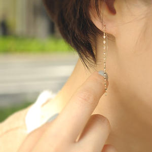 【anq.】K10 ・sparkle ペタルチェーンピアス