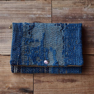 SASHIKO(BORO) PURSE(JAPAN×USA)No.10