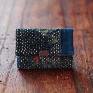 SASHIKO(BORO) CARD CASE(JAPAN×USA)