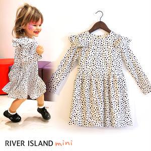 River Island|ダルメシアン柄 フリルワンピース