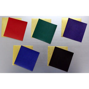金箔両面和紙折紙 単色 25㎝ 10枚入