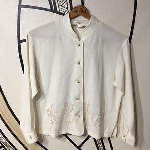 【個性的】ギリシャ人 刺繍 日本製 柄シャツ