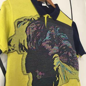 【個性的】アート LADY デザイン ヴィンテージ ポロシャツ